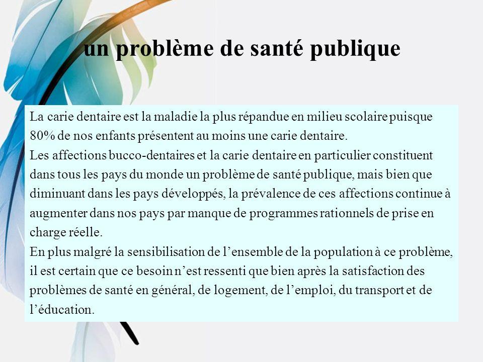 un problème de santé publique