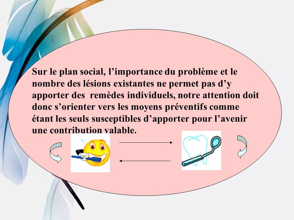 Sur le plan social, l'importance du problème et le