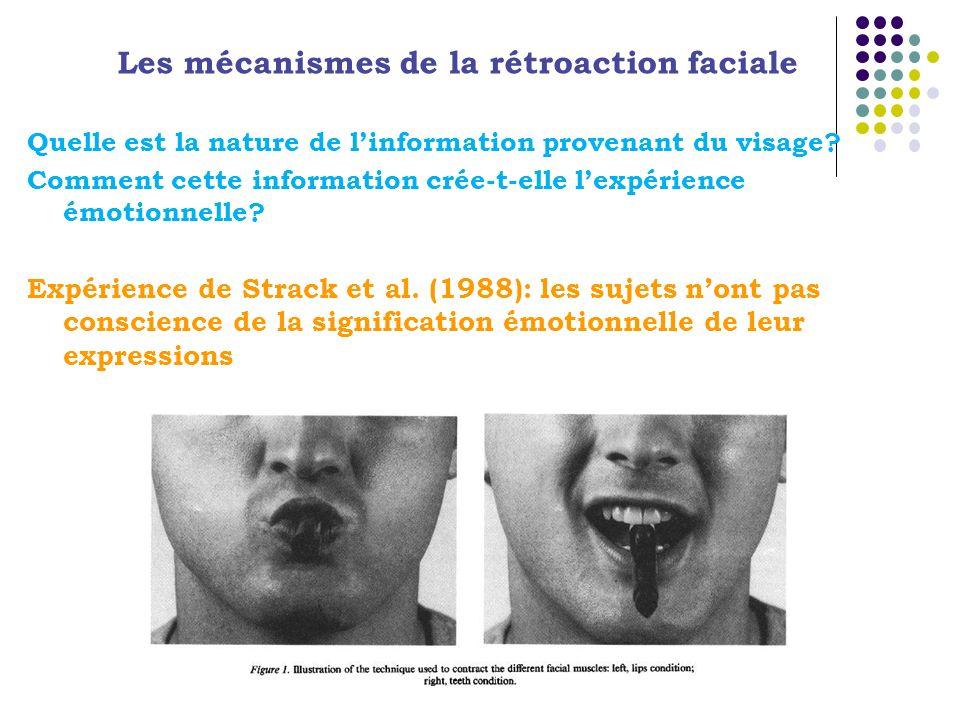 Les mécanismes de la rétroaction faciale