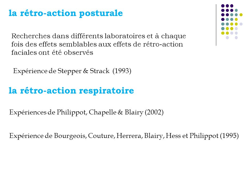 la rétro-action posturale