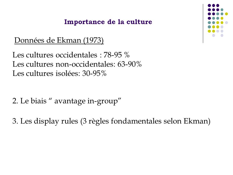 Importance de la culture