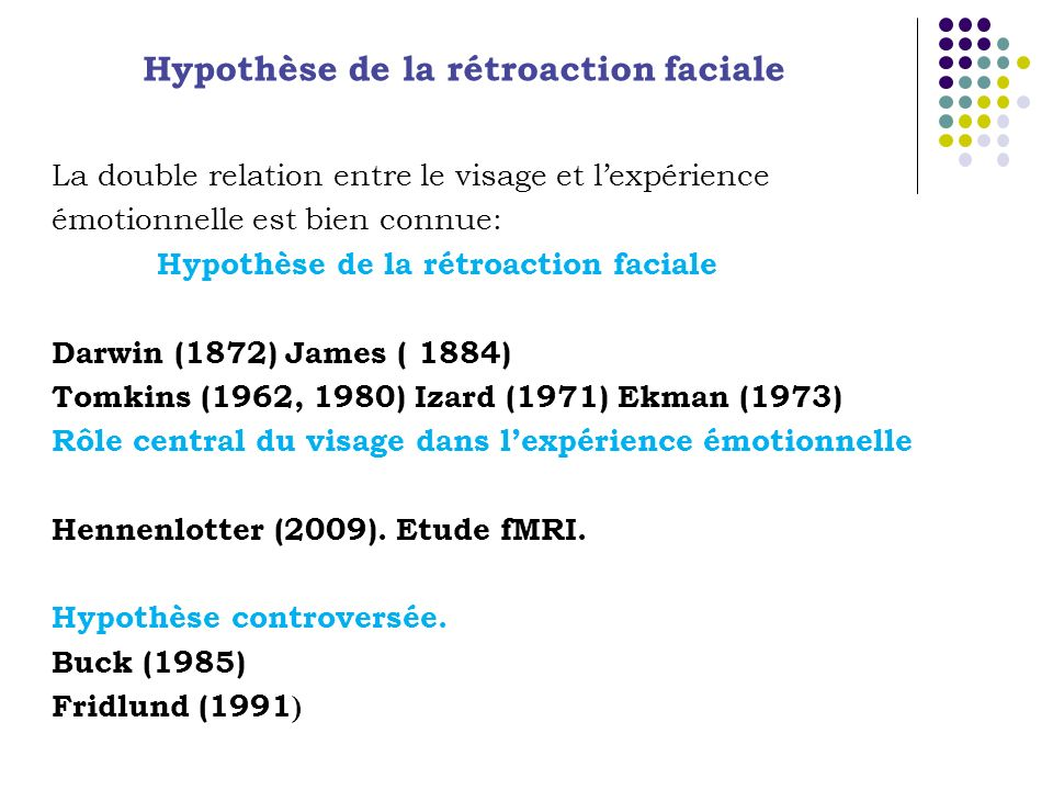 Hypothèse de la rétroaction faciale