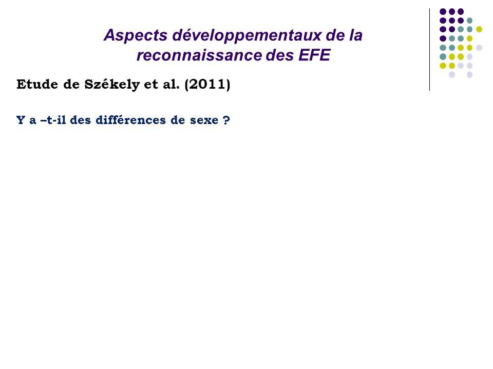 Aspects développementaux de la reconnaissance des EFE