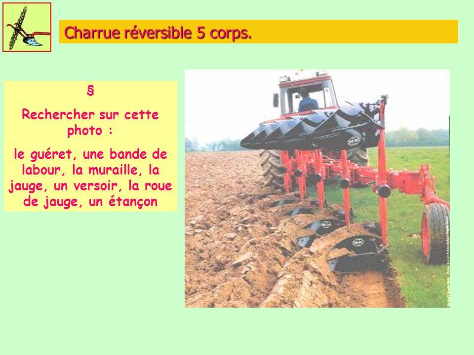 Charrue réversible 5 corps.