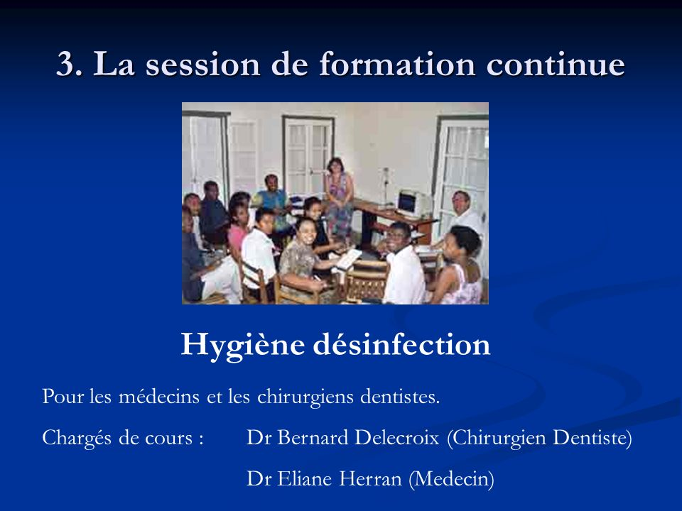 3. La session de formation continue