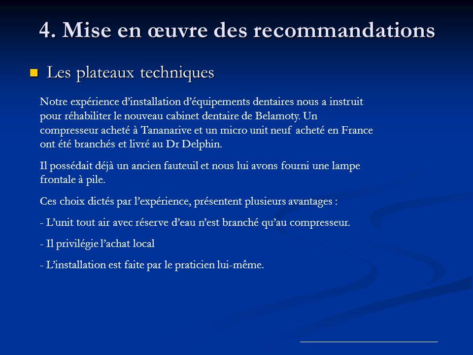 4. Mise en œuvre des recommandations
