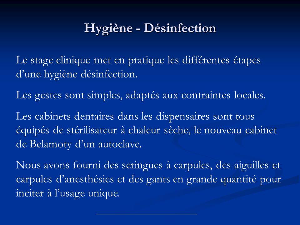 Hygiène - Désinfection