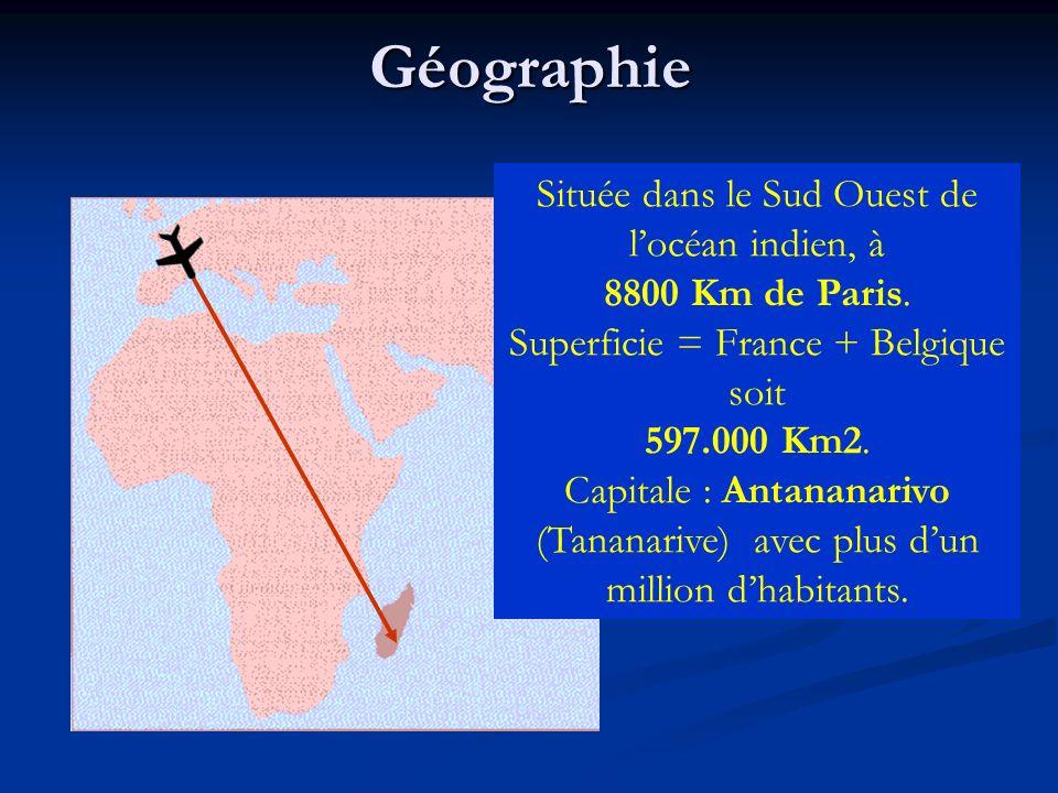 Géographie Située dans le Sud Ouest de l'océan indien, à