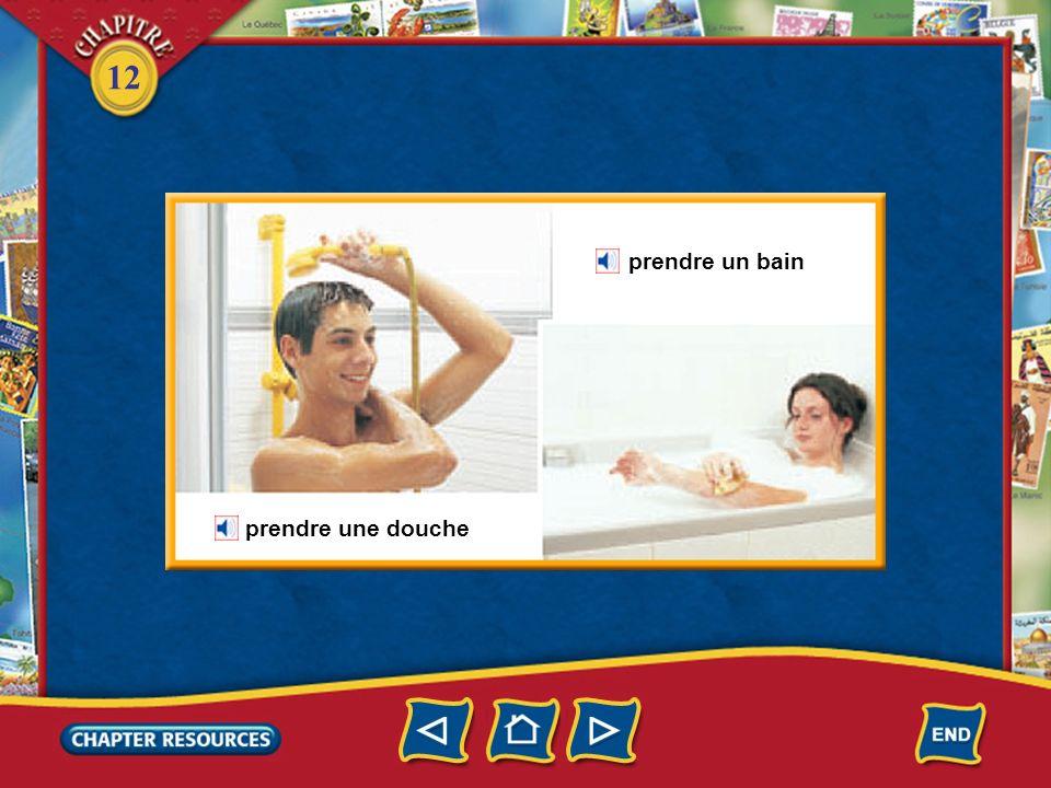 prendre un bain prendre une douche