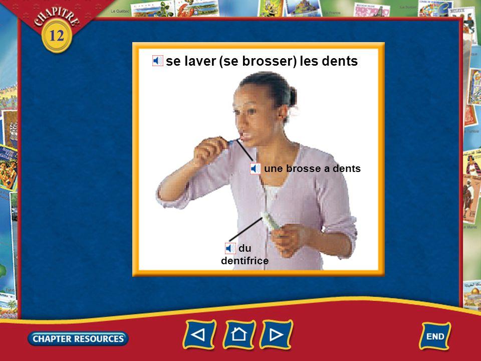 se laver (se brosser) les dents
