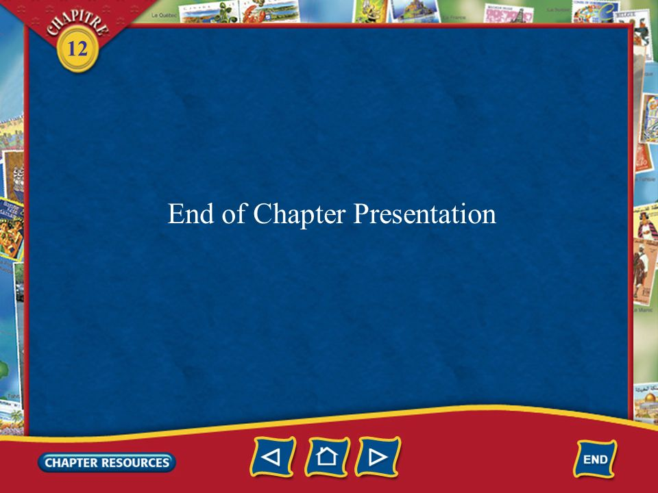 End of Chapter Presentation