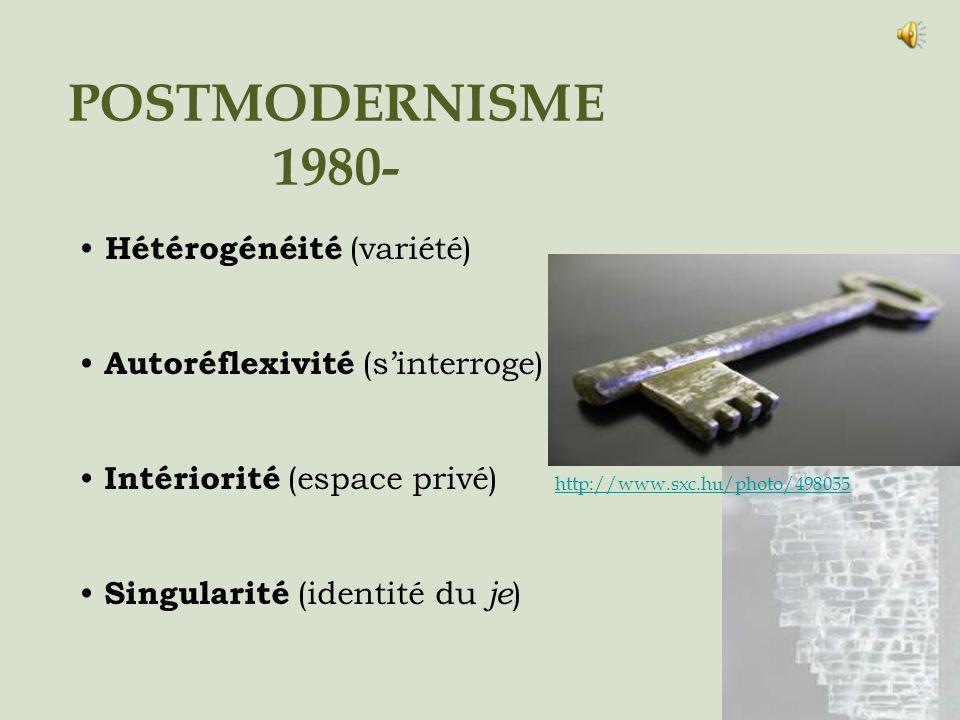 POSTMODERNISME 1980- Hétérogénéité (variété)