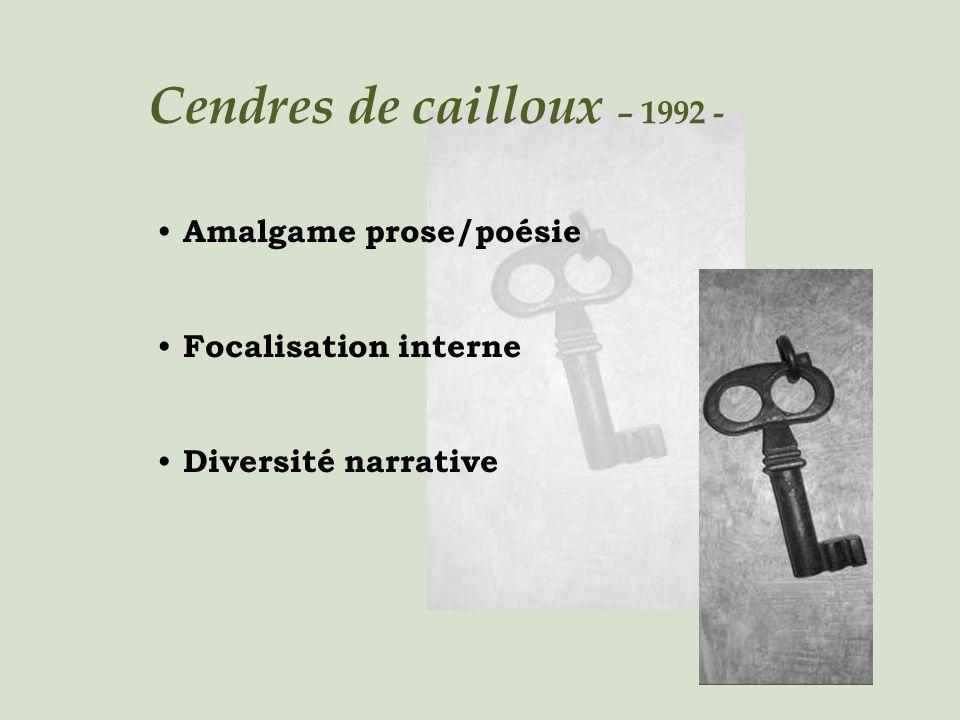 Cendres de cailloux – 1992 - Amalgame prose/poésie