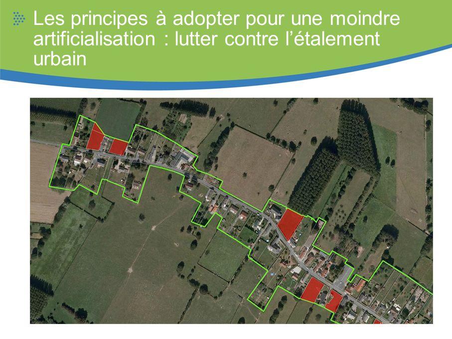Les principes à adopter pour une moindre artificialisation : lutter contre l'étalement urbain