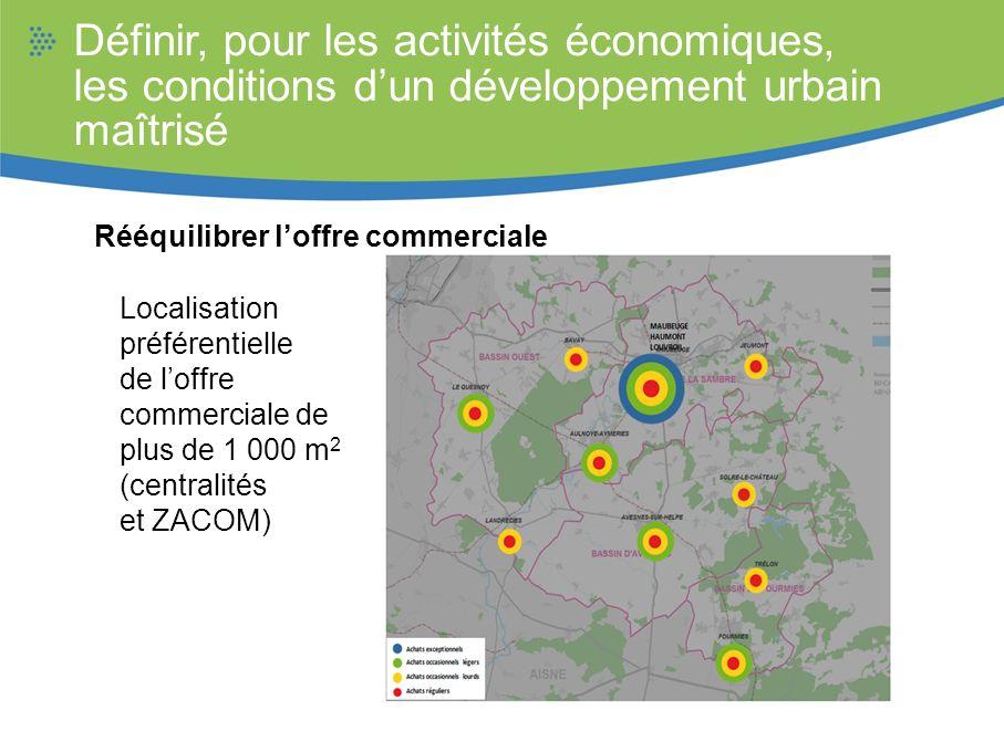 Définir, pour les activités économiques, les conditions d'un développement urbain maîtrisé