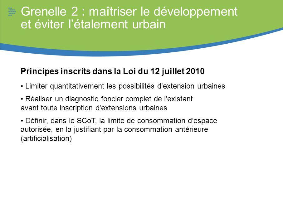 Grenelle 2 : maîtriser le développement et éviter l'étalement urbain