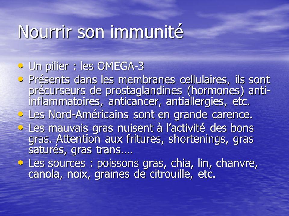 Nourrir son immunité Un pilier : les OMEGA-3