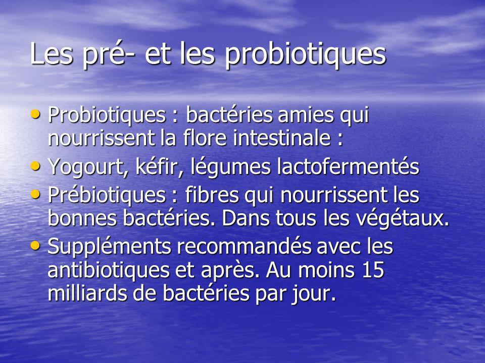 Les pré- et les probiotiques