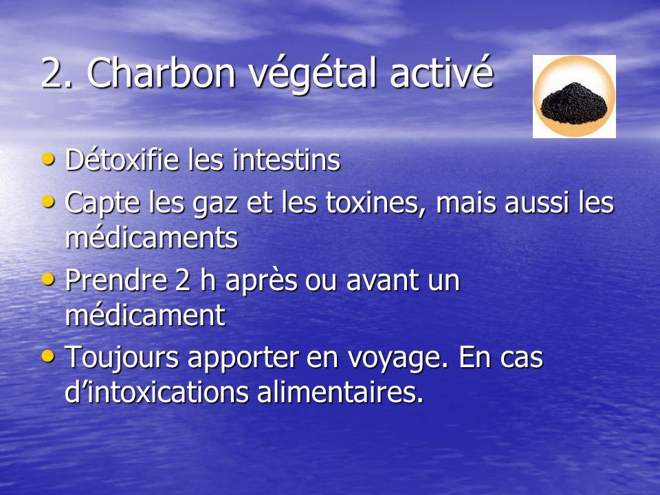 2. Charbon végétal activé