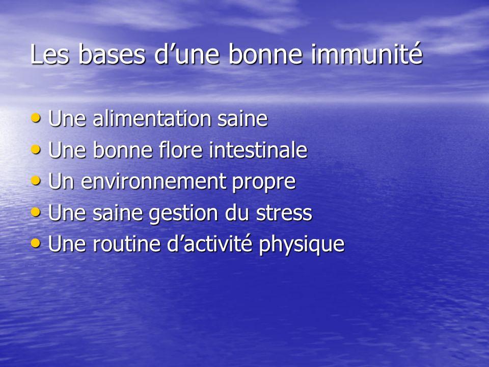 Les bases d'une bonne immunité