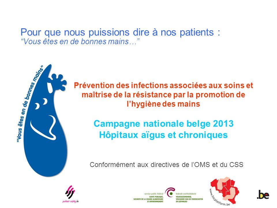 Campagne nationale belge 2013 Hôpitaux aïgus et chroniques