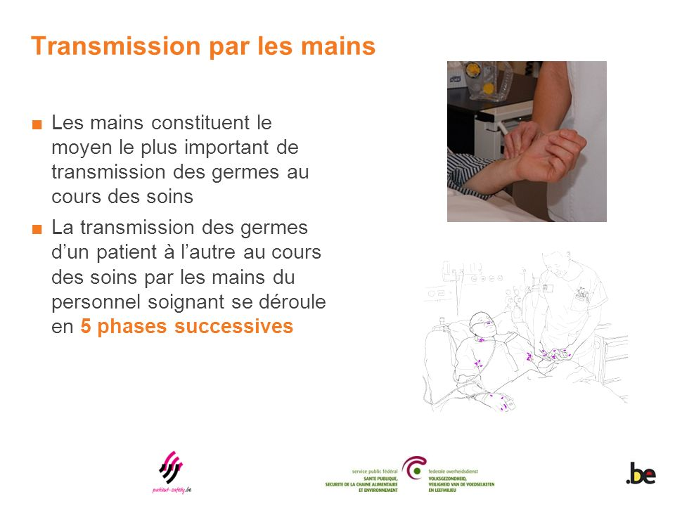 Transmission par les mains