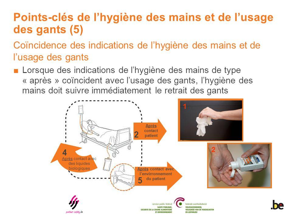 Points-clés de l'hygiène des mains et de l'usage des gants (5)