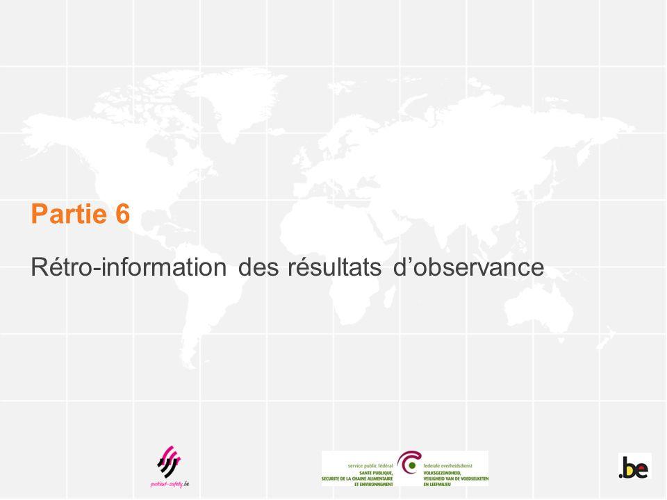 Rétro-information des résultats d'observance