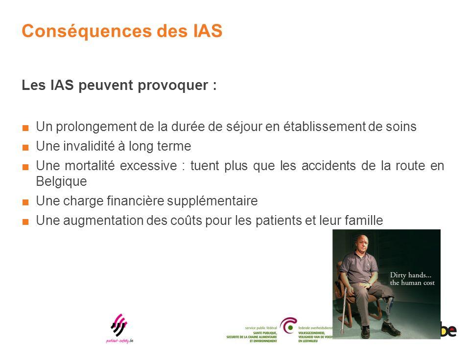 Conséquences des IAS Les IAS peuvent provoquer :