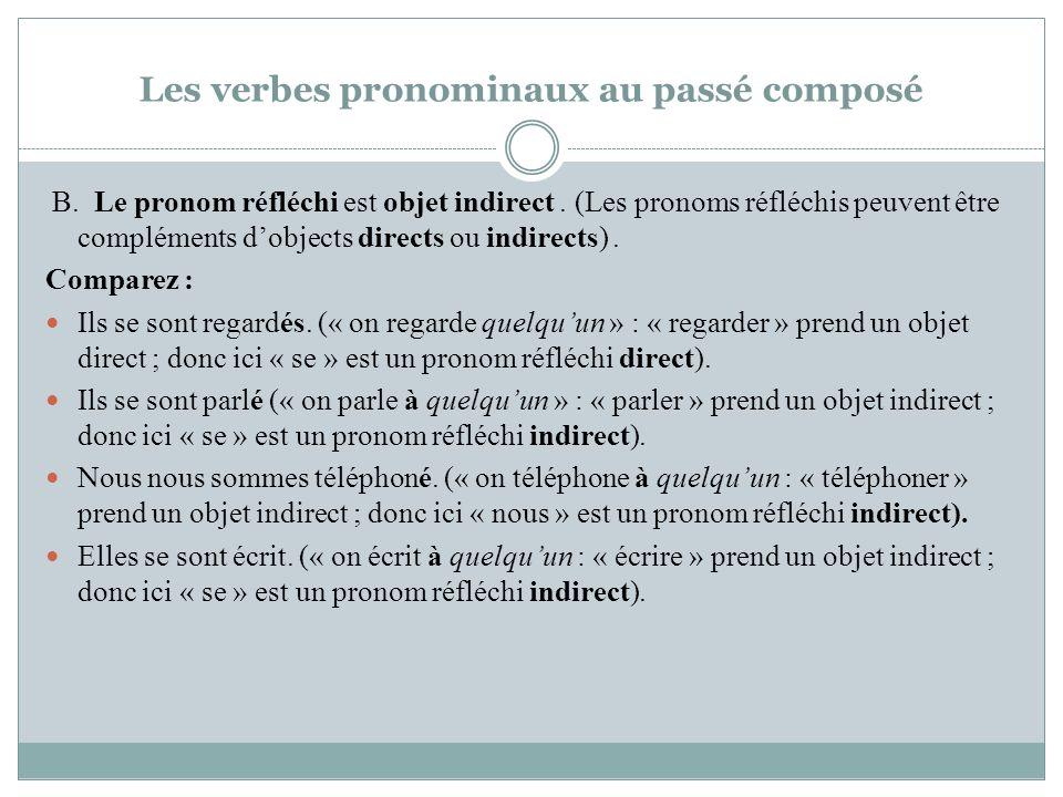 Les verbes pronominaux au passé composé