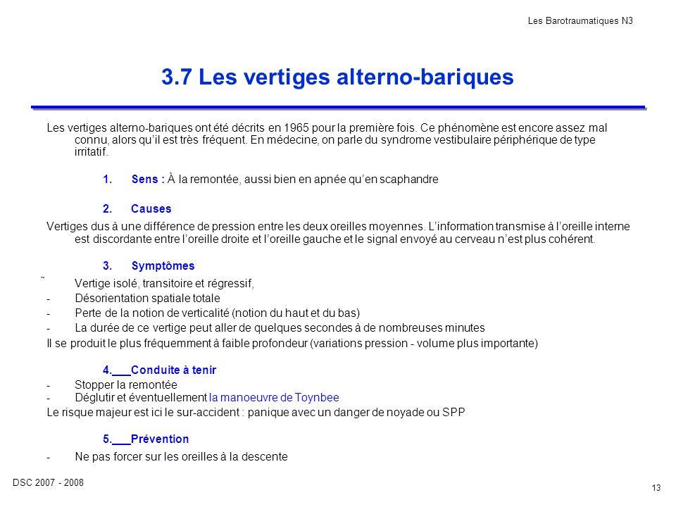 3.7 Les vertiges alterno-bariques