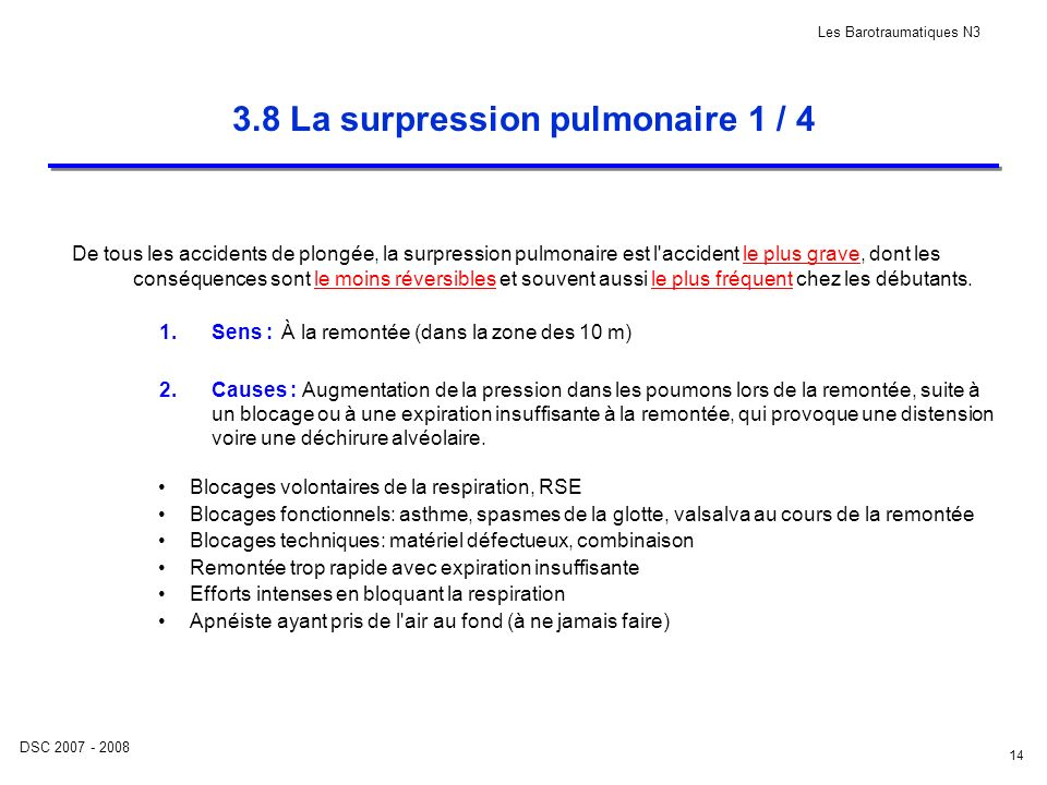 3.8 La surpression pulmonaire 1 / 4