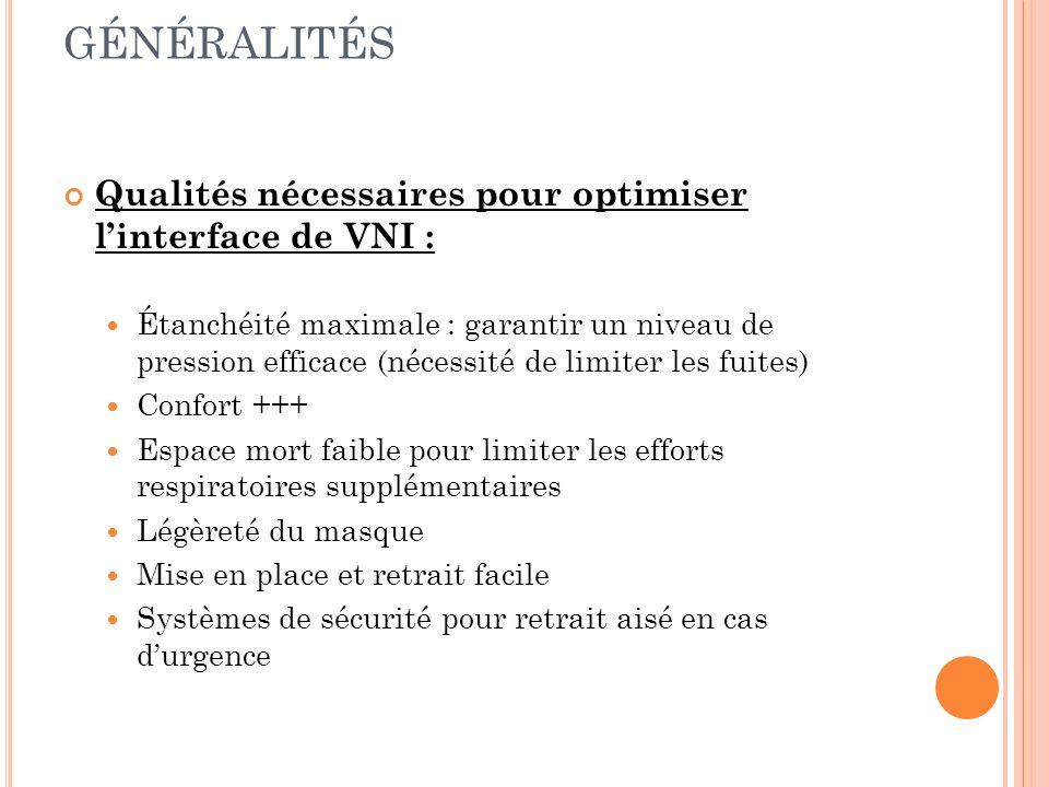 GÉNÉRALITÉS Qualités nécessaires pour optimiser l'interface de VNI :