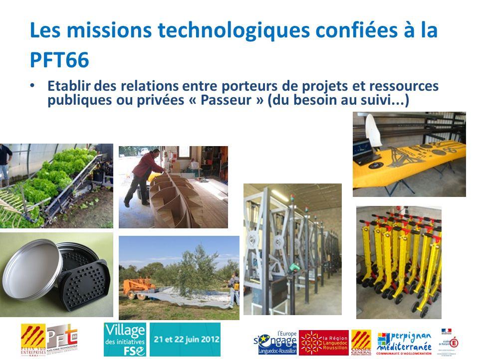 Les missions technologiques confiées à la PFT66