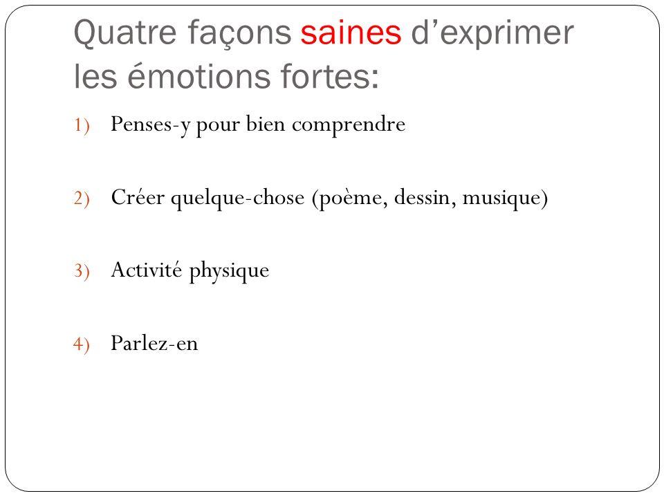 Quatre façons saines d'exprimer les émotions fortes: