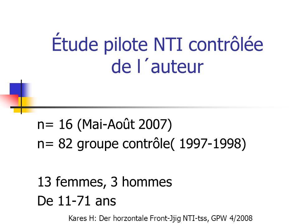 Étude pilote NTI contrôlée de l´auteur