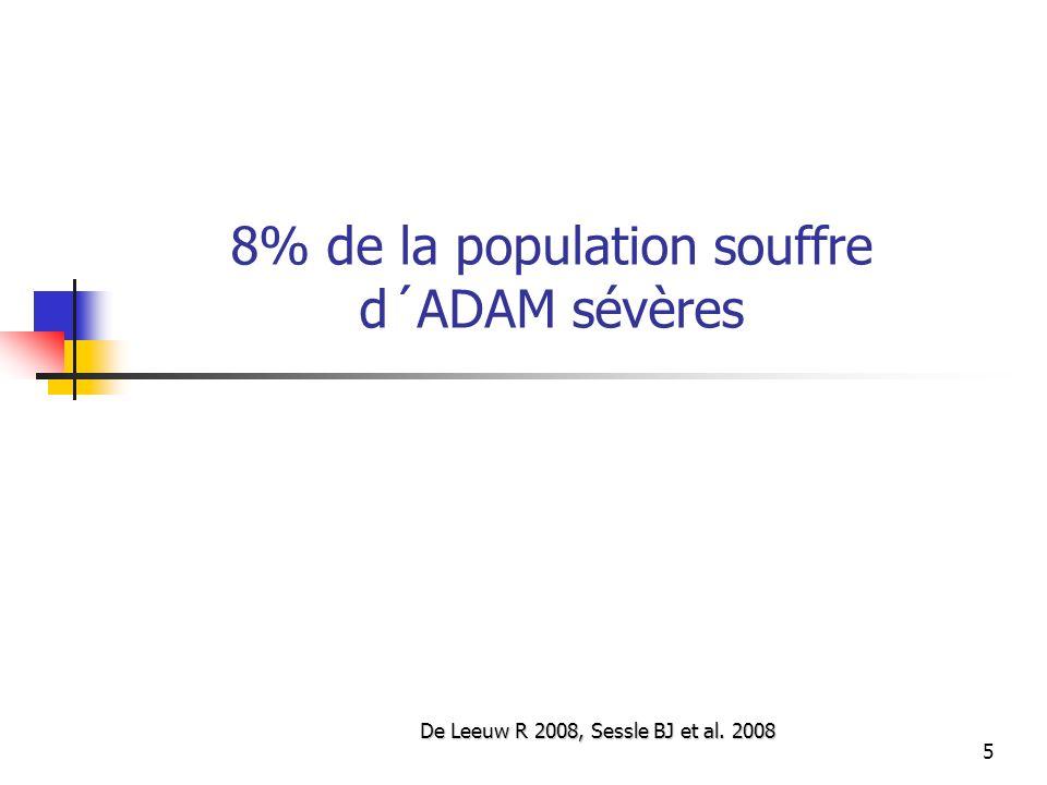 8% de la population souffre d´ADAM sévères