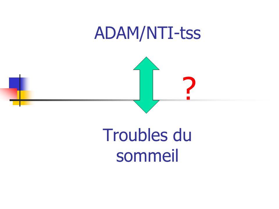 ADAM/NTI-tss Troubles du sommeil