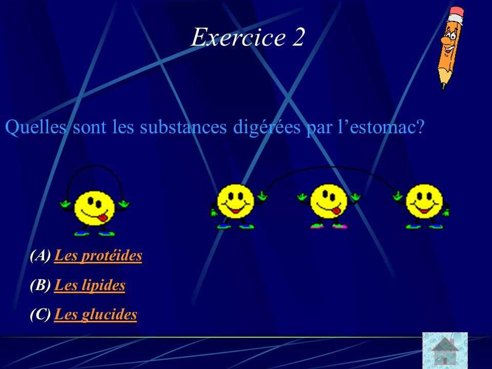 Exercice 2 Quelles sont les substances digérées par l'estomac