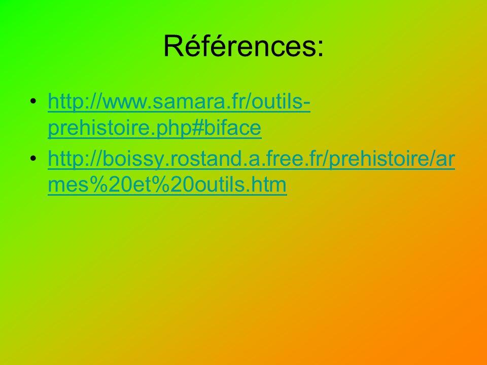 Références: http://www.samara.fr/outils-prehistoire.php#biface
