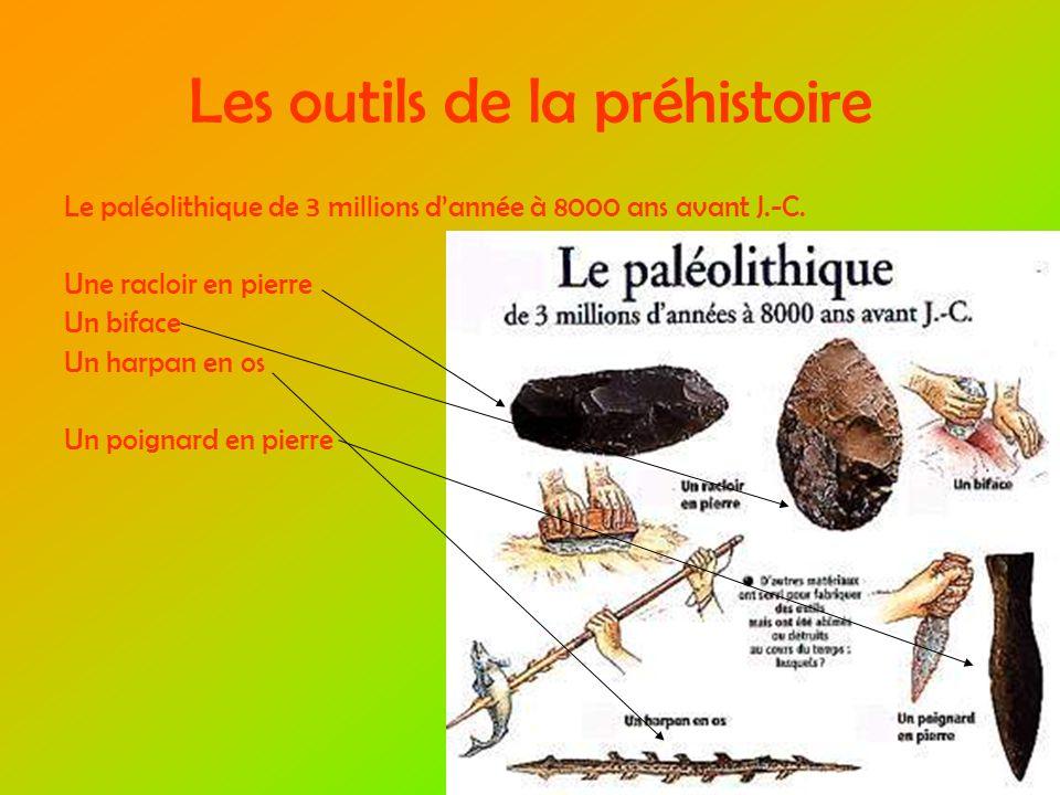 Les outils de la préhistoire