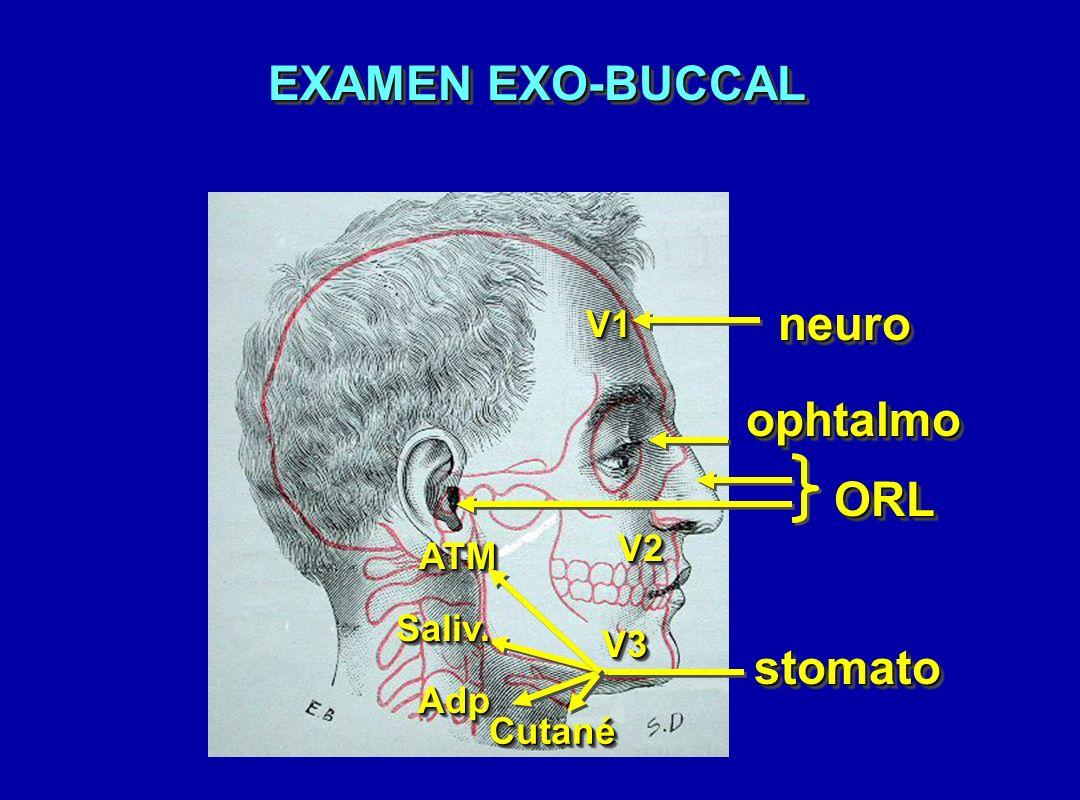 EXAMEN EXO-BUCCAL neuro ophtalmo ORL stomato