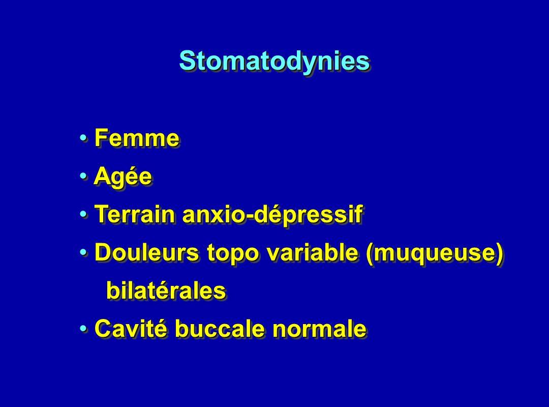 Stomatodynies Femme Agée Terrain anxio-dépressif