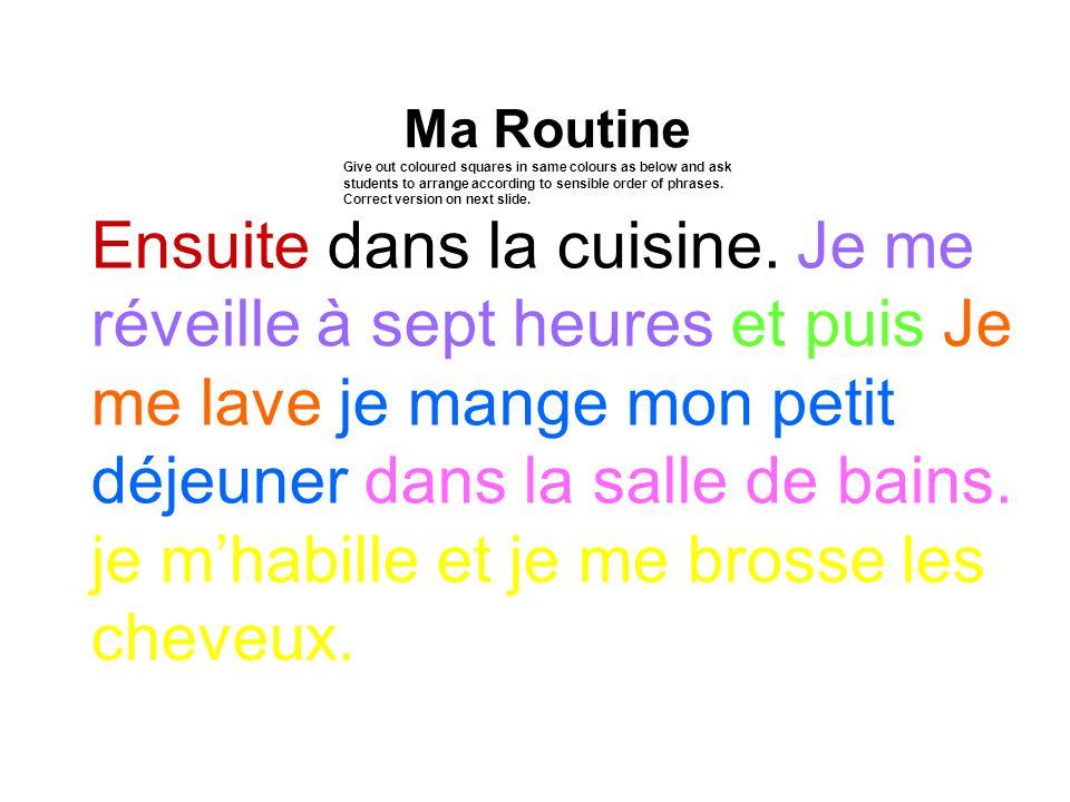 Ma Routine