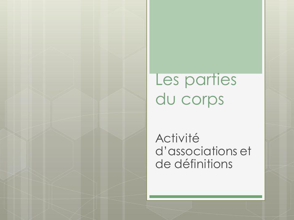 Activité d'associations et de définitions