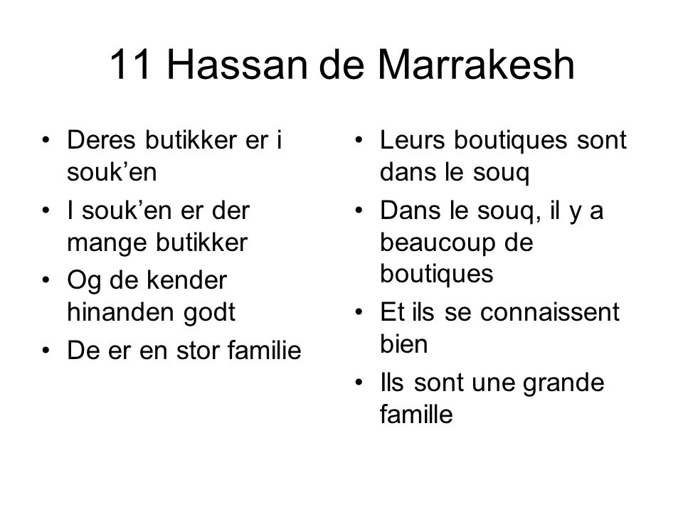 11 Hassan de Marrakesh Deres butikker er i souk'en