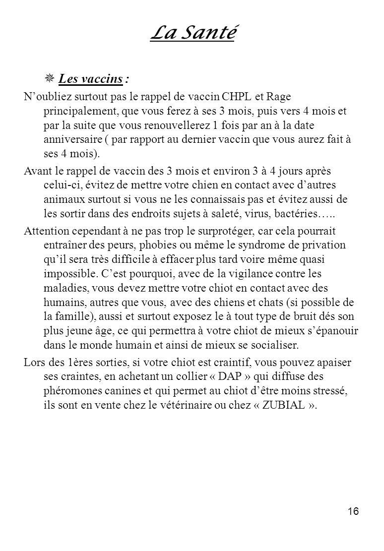 La Santé  Les vaccins :