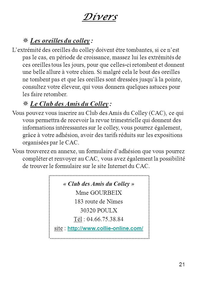 « Club des Amis du Colley »