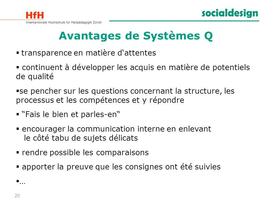 Avantages de Systèmes Q