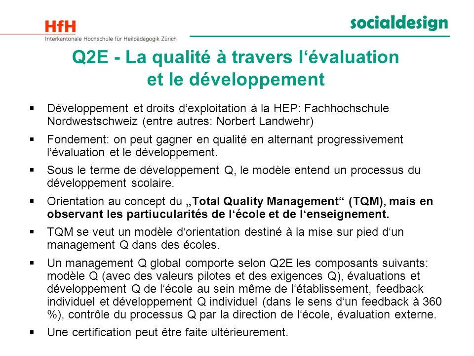 Q2E - La qualité à travers l'évaluation et le développement